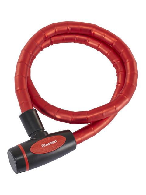 Masterlock 8228 PanzR Kabelschloss 18 mm x 1.000 mm rot